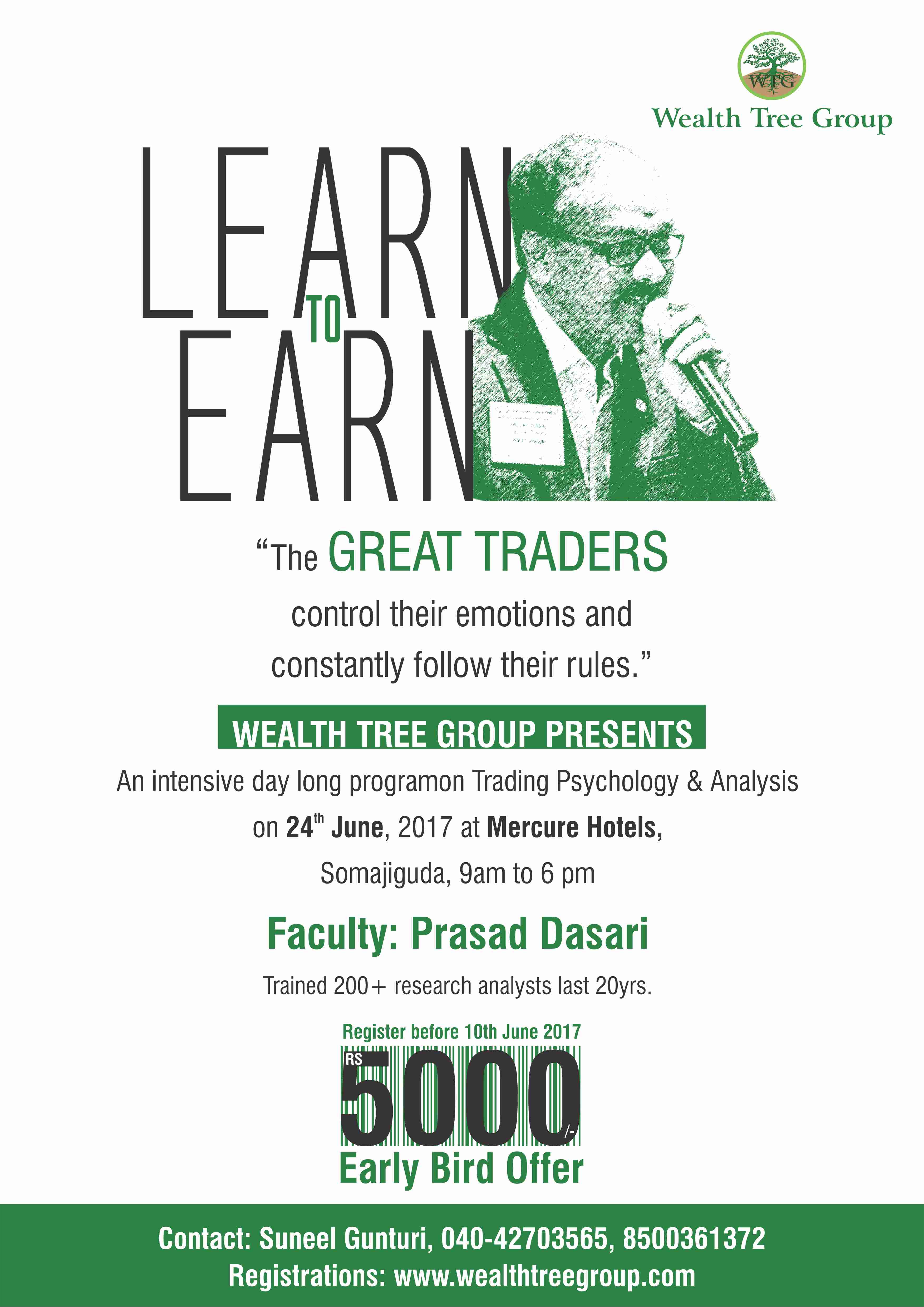 An intensive day long program on Trading psychology and Analysis