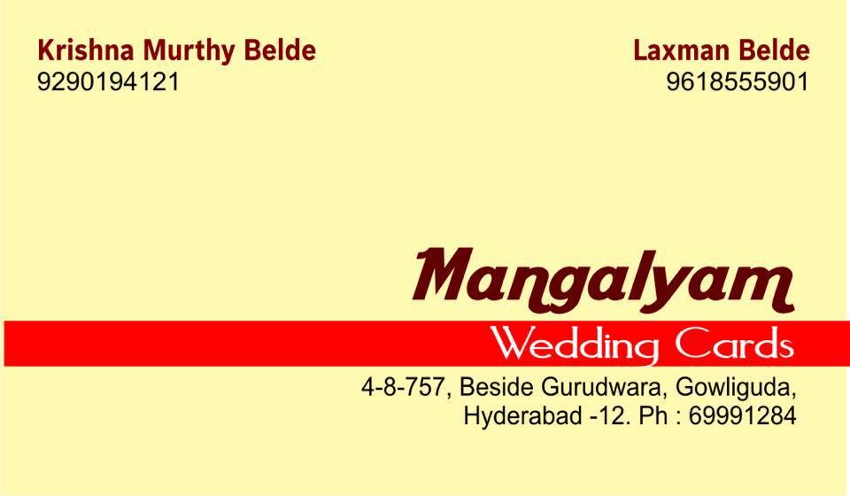 Mangalyam Cards